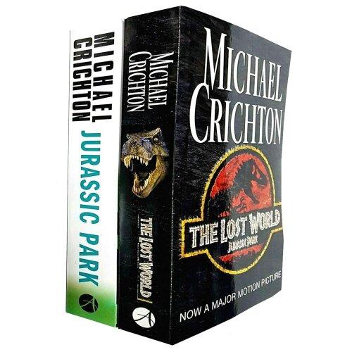 Michael Crichton 2 Books Collection Set The Lost World, Jurassic Park