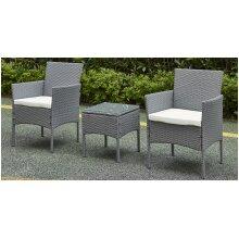 Garden Furniture Rattan Acorn Two-seater Bistro Balcony set in grey