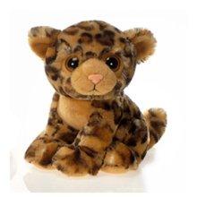 Fiesta Toys A39320 Lycon - 9In Big Eye Sitting Leopard, Brown Black