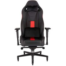 Corsair T2 Road Warrior, Faux Leather Gaming Office Chair, Easy Assembly, Ergonomic Swivel, Adjustable Height and 4D Armrests, Comfortable Wide Seat w