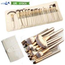 24PCS Make up Brushes Set Cosmetic Tool Kabuki Makeup+ Luxury Bag
