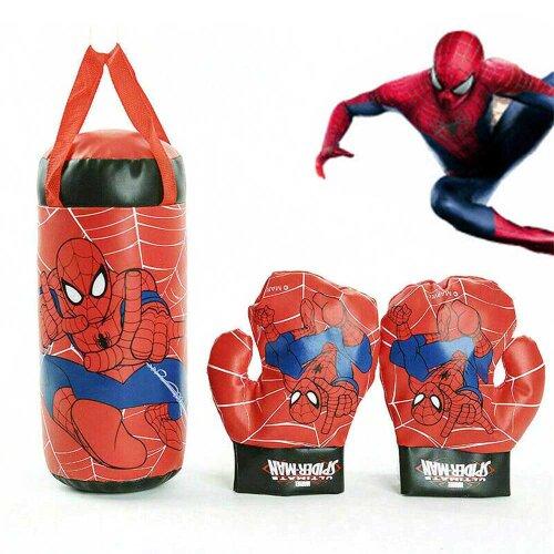 Marvel Avengers Spiderman Kid Boxing Bag Gloves Punching Set Toys Gift