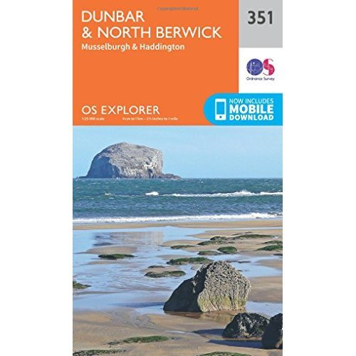 OS Explorer Map (351) Dunbar and North Berwick (OS Explorer Active Map)