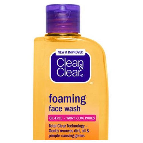 2 Pack Clean & Clear Foaming Face Wash, 100 ml each
