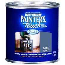 Rustoleum Half Pint Dark Gray Gloss Painters Touch Multipurpose Latex Paint 198