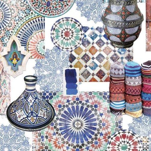 4 x Paper Napkins - Medina - Ideal for Decoupage / Napkin Art