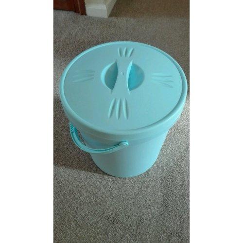 Junior Joy Nappy Bucket With Lid - 16 Litre Baby Blue