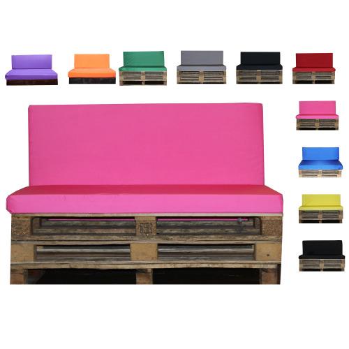 (Full Seat Only) Outdoor Waterproof Garden Pink Pallet Bench Pads