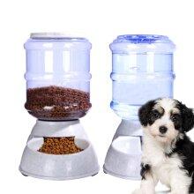 2Pcs 3.5L Automatic Pet Food Drink Dispenser Dog Cat Feeder Water