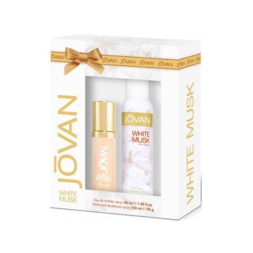 Jovan White Musk For Her Gift Set Eau De Toilette 59Ml  Bodyspray 150Ml