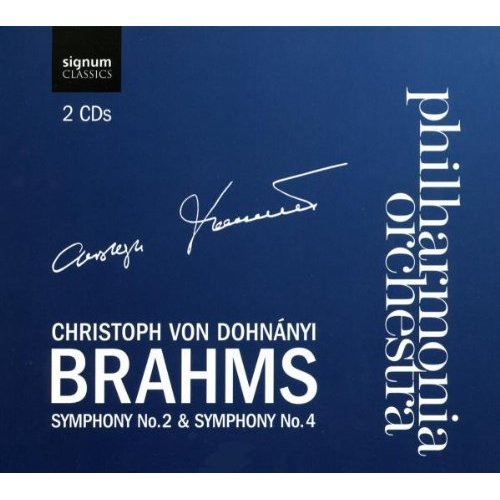 Philharmonia Orchestra - Brahms: Symphonies 2 and 4 (The Philharmonia Orchestra / Christoph Von Dohnanyi) [CD]