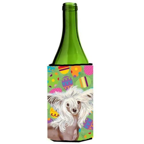 Chinese Crested Easter Eggtravaganza Wine Bottle   Hugger - 24 oz.