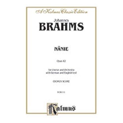 Alfred 00-K06111 Brahms Nanie-Nenia V Book