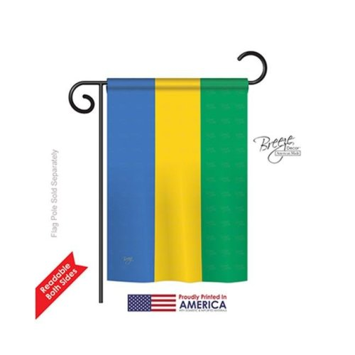 Breeze Decor 58294 Gabon 2-Sided Impression Garden Flag - 13 x 18.5 in.