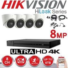 HIKVISION 8MP CCTV 8CH 4X VIVID HD CAMERA KIT(2TB)