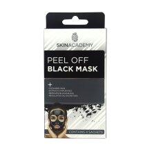 Skin Academy Peel Off Black Mask - 4 Treatment Pack Blackhead Removal