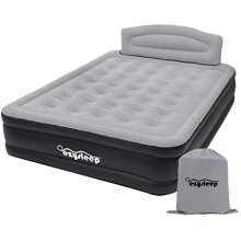Ezysleep Luxury Inflatable Bed With Headboard Easy To Inflate/Deflate With Built In Pump Folds Away Into Bag When Not In Use, Double: 196 x 145 cm