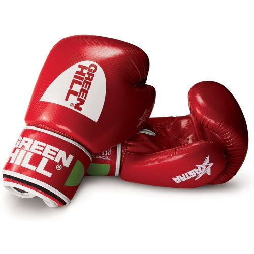 (Red, 12oz) GREEN HILL BOXING GLOVES ASTRA