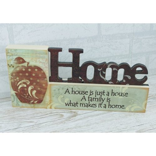 Home House is Just A House Family Makes A Home Cut Out Block