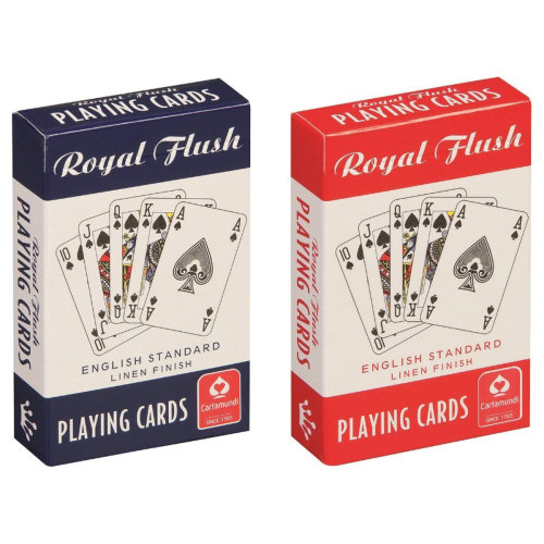 Royal Flush Linen Finish Premium Playing Cards (2 Decks, Red & Blue)