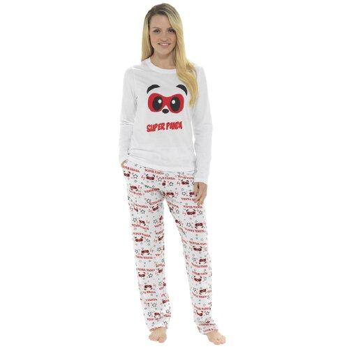 (Small) Ladies Super Panda Cotton Pyjama Set