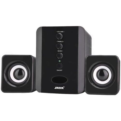 SADA D-202 Computer Speaker Set | 2.1 PC Speakers