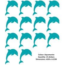 Dolphin Stickers Decals Transfers X14 Tile, Wall, Window Bathroom Sticky