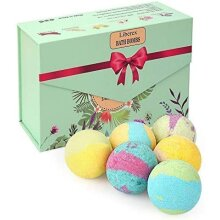 Liberex Bath Bombs Kit, Gift Set for Her, Mum, Women and Girls, 6 Scents x 100g