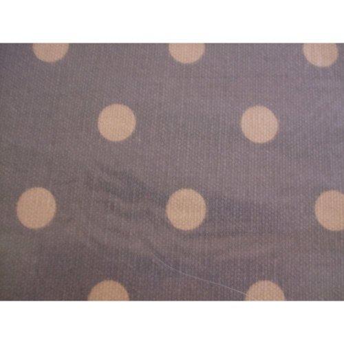HobbyGift Medium Sewing Basket Grey Spot Craft Fabric Box Storage
