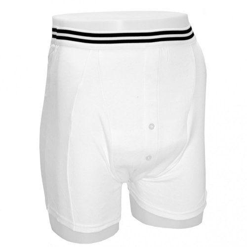 (Small) Kylie Male Incontinence Boxer Shorts, White