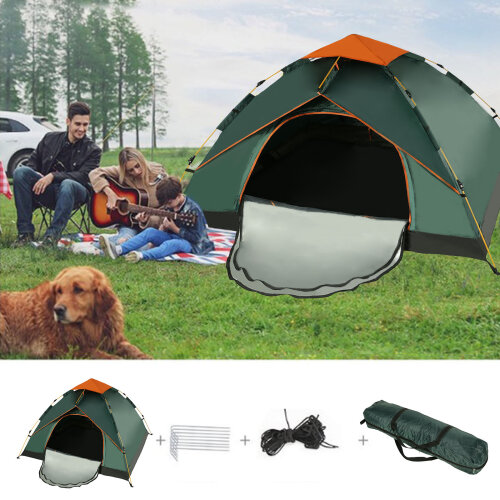 3-4 Man Person Camping Automatic Pop-Up Tent Double Layer Festival Fishing Beach