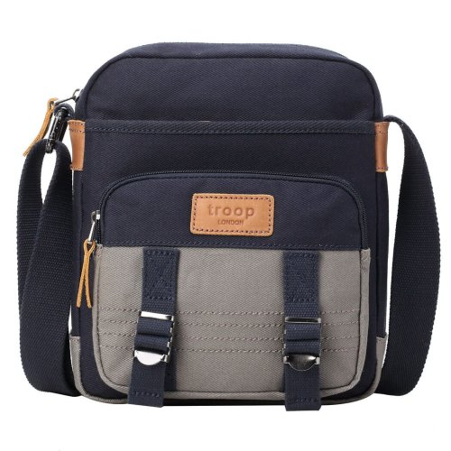 TRP0496 Troop London Classic Canvas Messenger Bag | Buy Bags Online | Canvas Messenger Bags | leather canvas backpack
