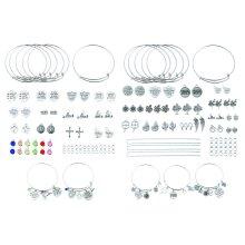 Job lot jewellery making kit necklace bracelet pendants findings DIY in box