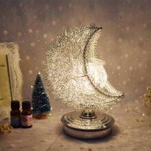 3D Moon Lamp Night Light,Aroma Electric Wax Melt Burner Romantic Lamp