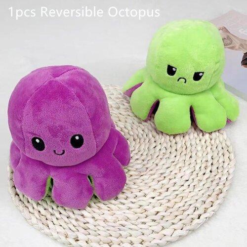 Double-Sided Octopus Plush Toy Marine Animals Doll