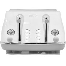 DELONGHI Icona Capitals CTOC4003.W 4-Slice Toaster - White, White