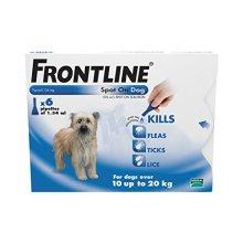 FRONTLINE Spot On for Medium Dogs, 10-20kg, 6 Pipettes