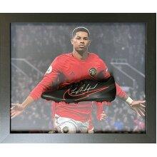 Framed Marcus Rashford signed Nike Football boot with COA & proof