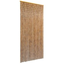 vidaXL Door Curtain Bamboo 90x200cm Fly Bug Insect Mosquito Screen Mesh Net