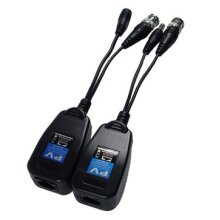 2Pcs 205PV 2-in-1 Power Video Passive Twisted Pair Transceiver Support for HD-CVI AHD CVI