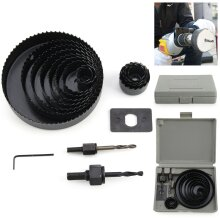 HOLE SAW KIT SET HEAVY METAL CIRCLE CUTTER ROUND DRILL DOWNLIGHT