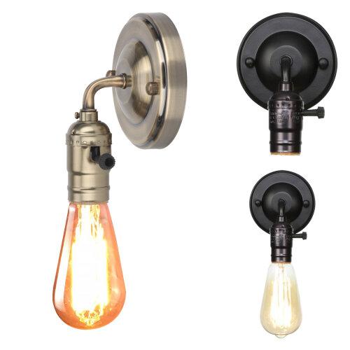 Retro Wall Lamp Light Holder Switch