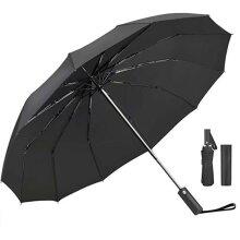 12 Ribs Auto Open/Close Windproof Rain Umbrella Waterproof Travel