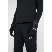 Nike Black Reflective Touch screen SHIELD Wind Performance RUNNING GLOVES (Medium/ Large/ XLarge) Not a Shirt Coat Sneakers Trainers Jacket Jumper