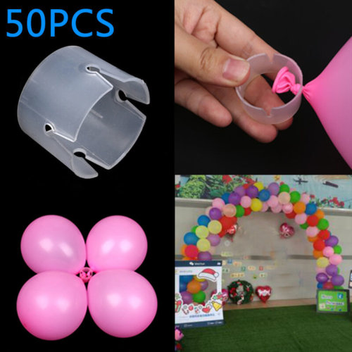 50pcs Balloon Arch Connectors Ring Buckle Balloon Flower Party Home