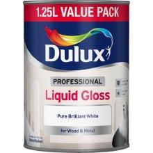 Dulux Professional Liquid Gloss Pure Brilliant White - Wood & Metal Paint 1.25L