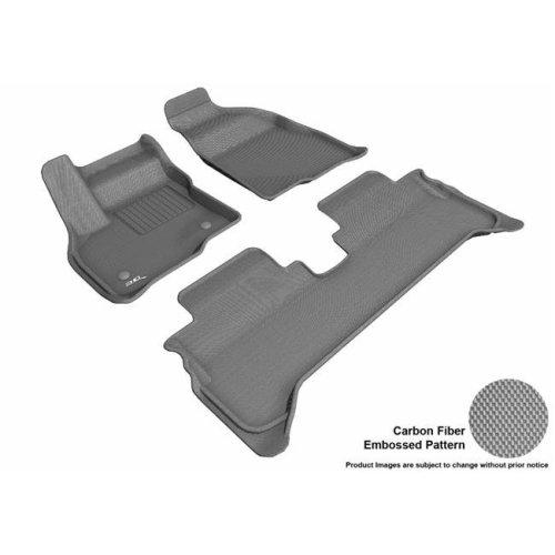 3D MAXpider L1CH08701501 Kagu R1 R2 Floor Mat for 2017-2019 Chevrolet Bolt EV, Gray