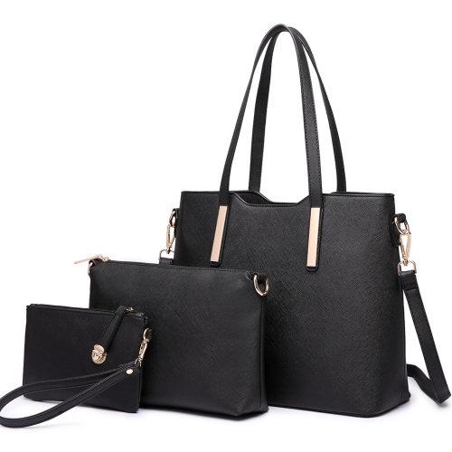 Miss Lulu 1 Set Women Shoulder Bag Leather Handbag Tote
