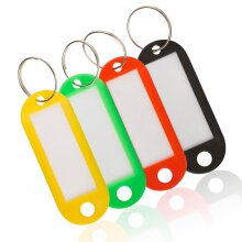 Key Fobs Colored With Labels Luggage Memory Stick Tags 4 pcs