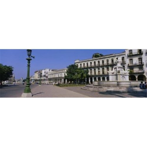 Sculpture in front of a building  Havana  Cuba Poster Print by  - 36 x 12